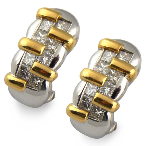 Серьги Chaumet, платина 900, золото 750, бриллианты