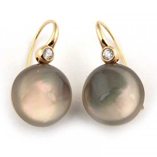 Серьги Roberto Coin Cocktail, розовое золото, жемчуг, бриллианты