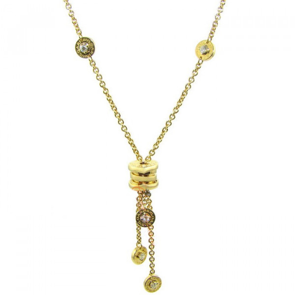 Ожерелье Bvlgari B.zero1, желтое золото, бриллианты
