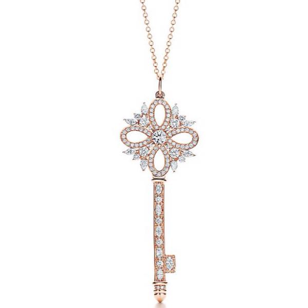 Ключ Tiffany & Co. Victoria, розовое золото, бриллианты