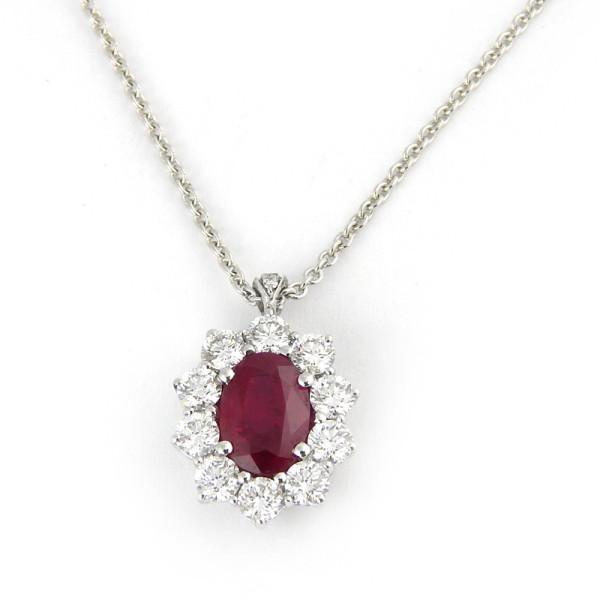 Кулон Crivelli, белое золото, бриллианты, рубин