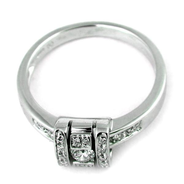 Кольцо Damiani, белое золото, бриллианты