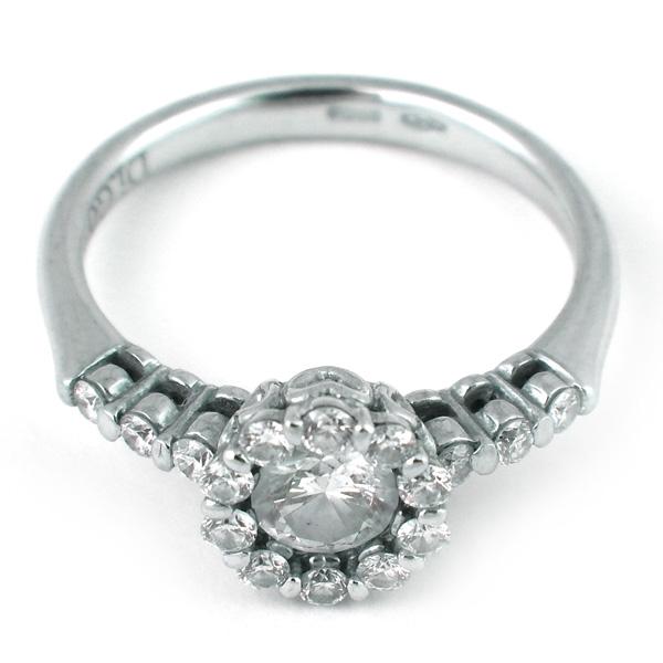 Кольцо Di.Go, белое золото, бриллианты