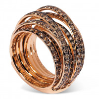Кольцо de Grisogono Allegra, розовое золото, коньячные бриллианты