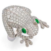 Кольцо Stenzhorn Frog, белое золото, бриллианты