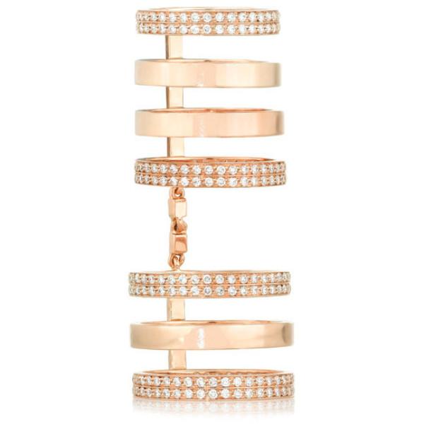 Кольцо Repossi, розовое золото, бриллианты