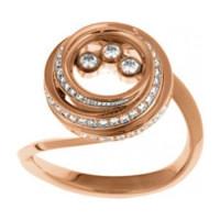 Кольцо Chopard Happy Diamonds, розовое золото, бриллианты