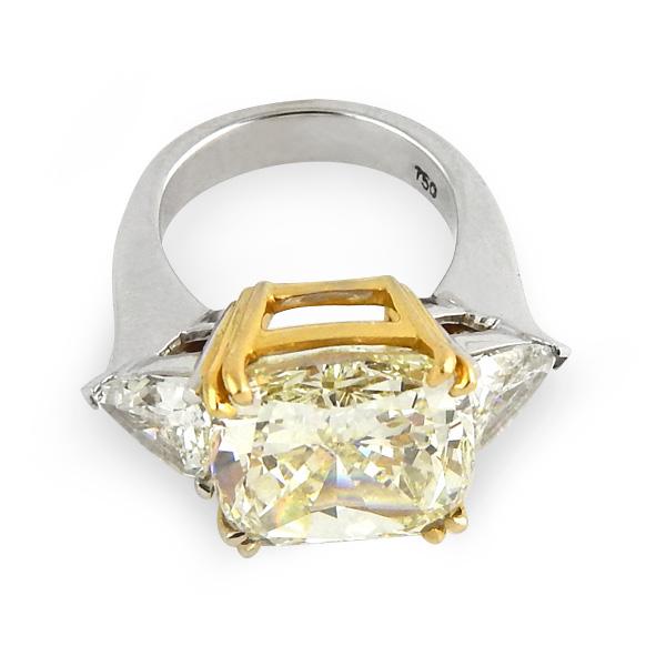 Кольцо Graff с бриллиантом 10,14ct, белое, желтое золото