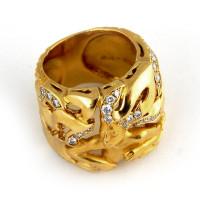 Кольцо Magerit, желтое золото, бриллианты