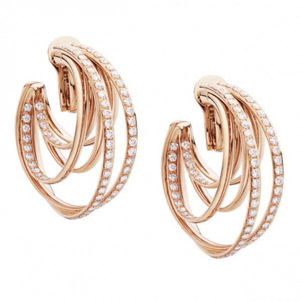 Серьги de Grisogono Allegra, розовое золото, бриллианты