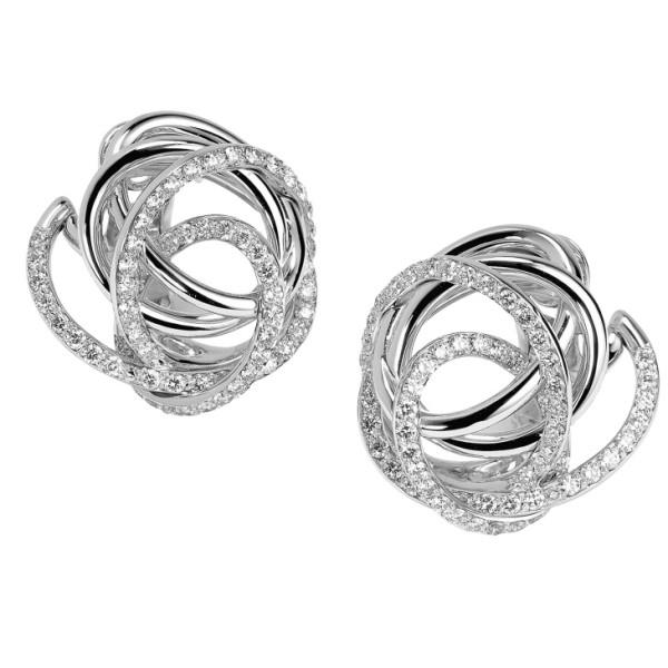 Серьги de Grisogono Matassa, белое золото, бриллианты
