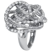 Кольцо de Grisogono Matassa, белое золото, бриллианты