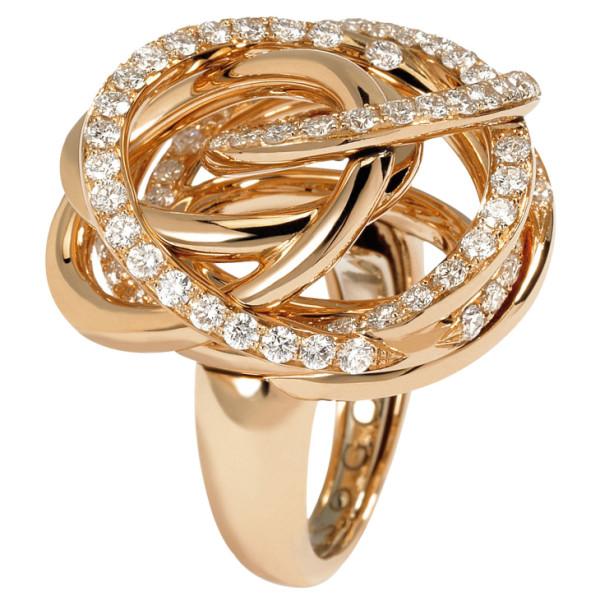 Кольцо de Grisogono Matassa, розовое золото, бриллианты
