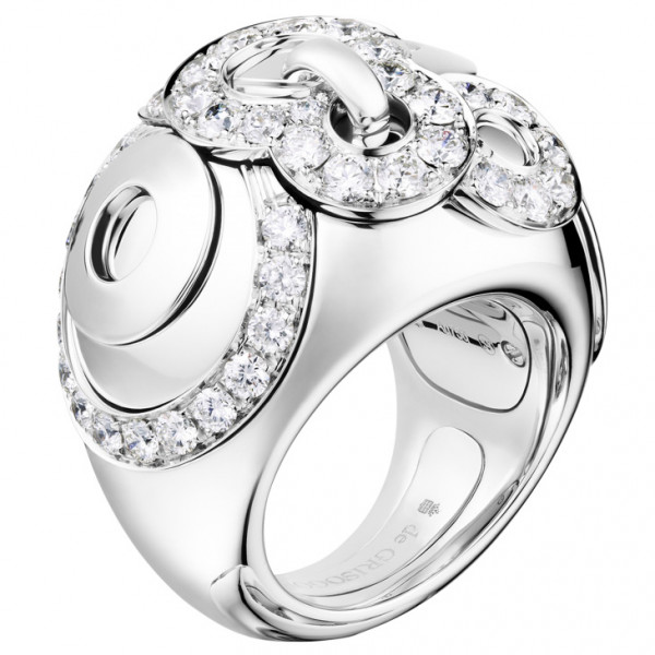 Кольцо de Grisogono Gypsy, белое золото, бриллианты