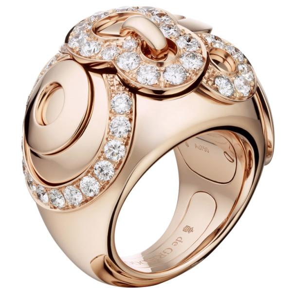 Кольцо de Grisogono Gypsy, розовое золото, бриллианты