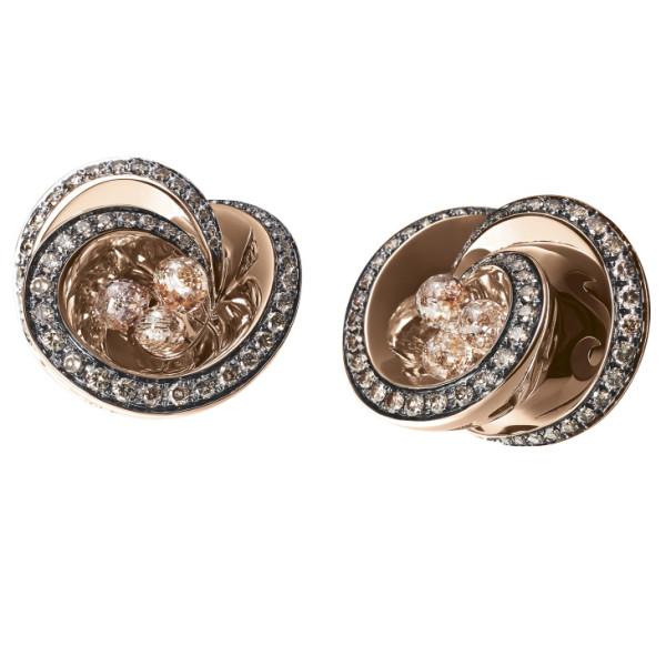 Серьги de Grisogono Chiocciolina, розовое золото, бриллианты