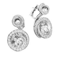 Серьги de Grisogono Chiocciolina, белое золото, бриллианты