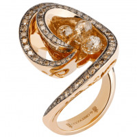 Кольцо de Grisogono Chiocciolina, розовое золото, бриллианты