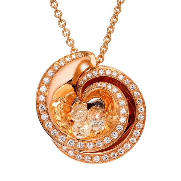 Подвеска de Grisogono Chiocciolina, розовое золото, бриллианты