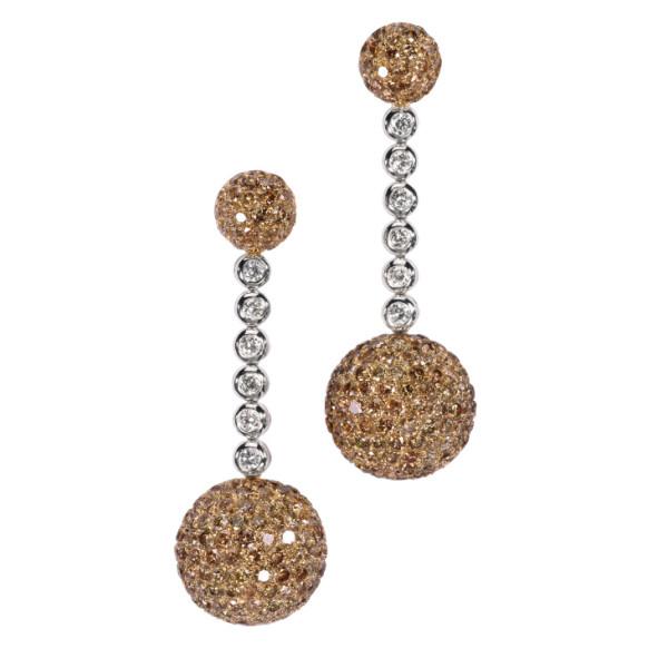 Серьги de Grisogono Boule, белое, желтое золото, бриллианты