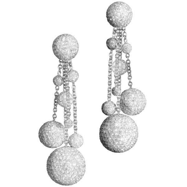 Серьги de Grisogono Boule, белое золото, бриллианты