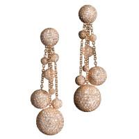 Серьги de Grisogono Boule, розовое золото, бриллианты