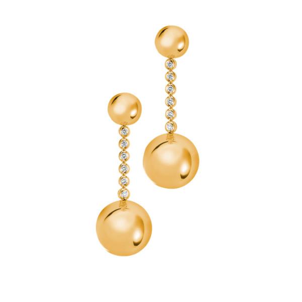 Серьги de Grisogono Boule, желтое золото, бриллианты
