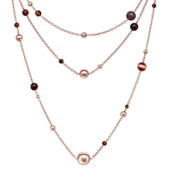 Ожерелье de Grisogono Boule, розовое золото, янтарь