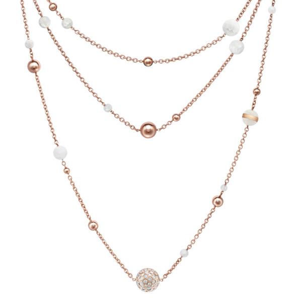 Ожерелье de Grisogono Boule, розовое золото, бриллианты, хрусталь