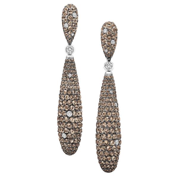Серьги de Grisogono Gocce, белое золото, бриллианты