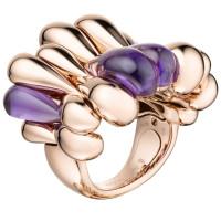 Кольцо de Grisogono Gocce, розовое золото, аметисты