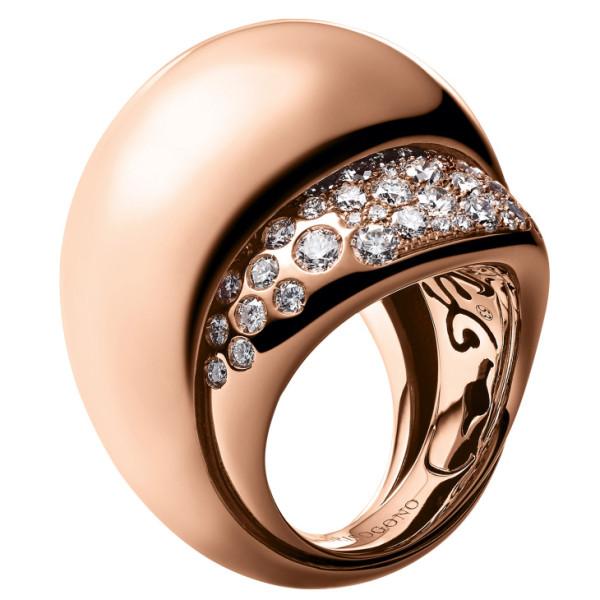 Кольцо de Grisogono Bocca, розовое золото, бриллианты