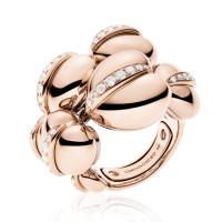 Кольцо de Grisogono Conchiglietta, розовое золото, титан, бриллианты