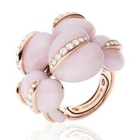 Кольцо de Grisogono Conchiglietta, розовое золото, титан, бриллианты, опалы