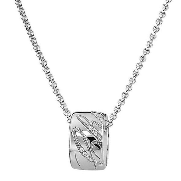 Подвеска Chopard Chopardissimo, белое золото, бриллианты