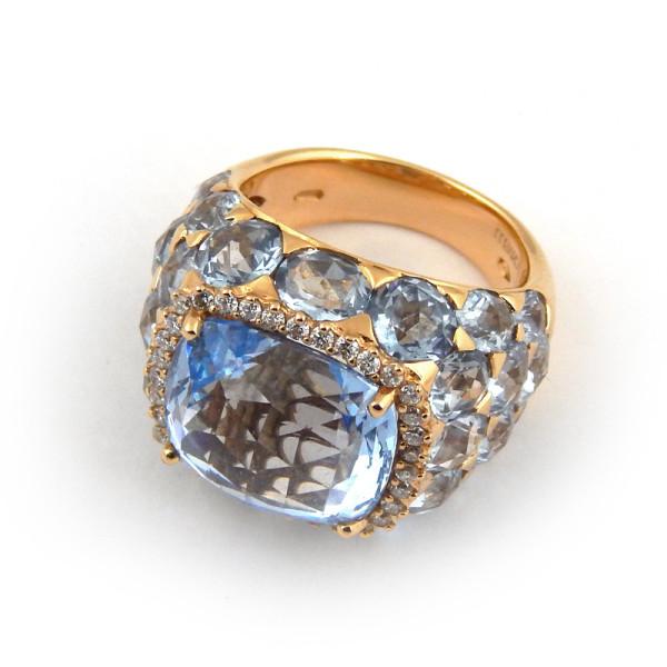 Кольцо Crivelli с аметистом, желтое золото
