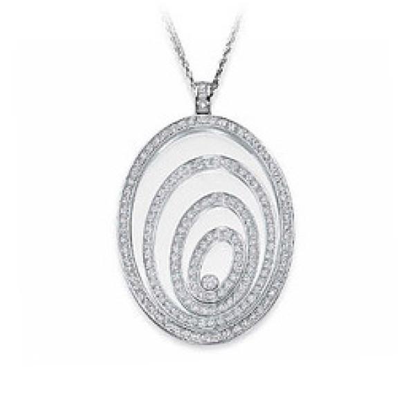 Подвеска Chopard Happy Spirit, белое золото, бриллианты