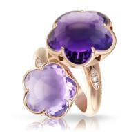 Кольцо Pasquale Bruni Bon Ton, розовое золото, аметисты, бриллианты