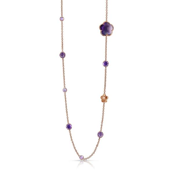 Ожерелье Pasquale Bruni Bon Ton, розовое золото, аметисты, бриллианты