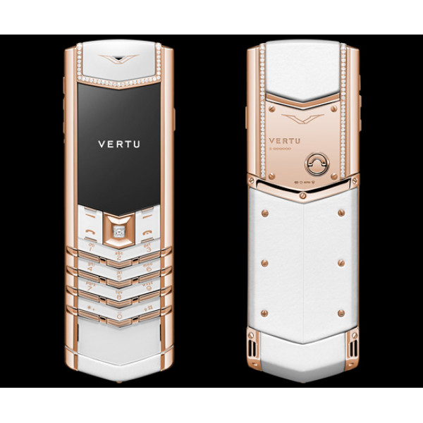 Vertu Signature S Design Red Gold White Leather