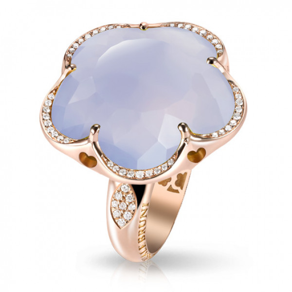 Кольцо Pasquale Bruni Bon Ton, розовое золото, кварц, бриллианты