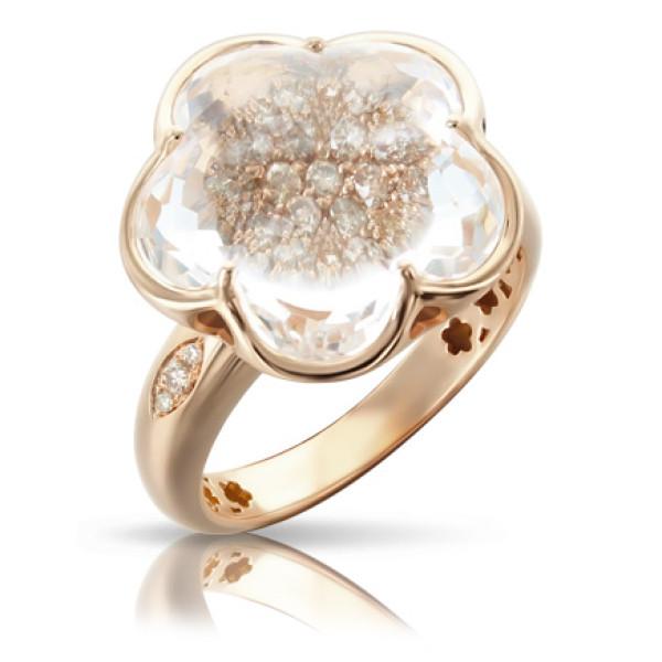 Кольцо Pasquale Bruni Bon Ton, розовое золото, бриллианты