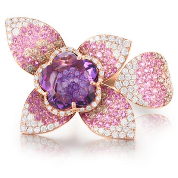 Кольцо Pasquale Bruni Giardini Segreti Haute Couture, розовое золото, бриллианты