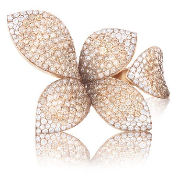 Кольцо Pasquale Bruni Giardini Segreti, розовое золото, бриллианты