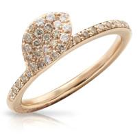 Кольцо Pasquale Bruni Petit Garden, розовое золото, бриллианты