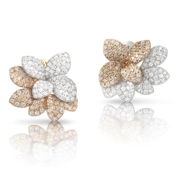 Серьги Pasquale Bruni Petit Garden, белое, розовое золото, бриллианты