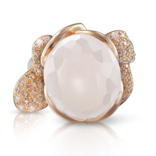 Кольцо Pasquale Bruni Petit Secret, розовое золото, бриллианты, кварц
