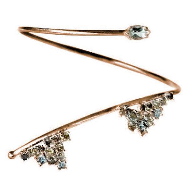 Браслет Damiani for Jil Sander, розовое золото, бриллианты