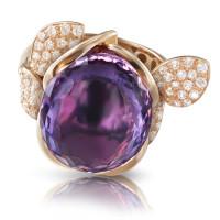 Кольцо Pasquale Bruni Petit Secret, розовое золото, бриллианты, аметист
