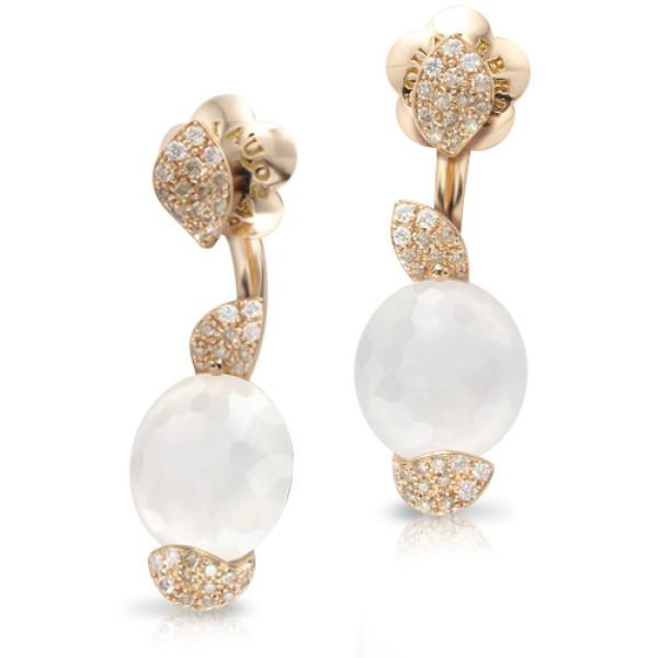 Серьги Pasquale Bruni Petit Secret, розовое золото, бриллианты, кварц